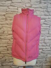 Ladies pink blue Joules Fleece Lined reversible Bodywarmer Jacket Sz 12 uk women