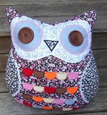 Owl Pillow Brown Eyes Bed Sofa Cushion Pillowcase with Insert FREE DELIVERY