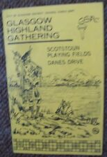1975  Glasgow Highland Gathering Programme Scotstoun including Pipe Bands
