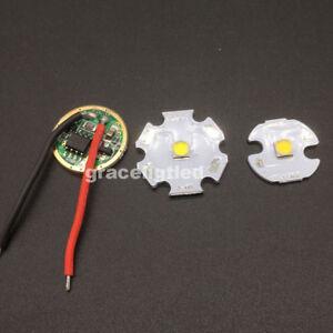 CREE 10W XPL XP-L Led Emitter White Chip 16/20MM PCB+Input 16mm 3.7V LED driver