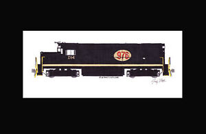 """Detroit & Mackinac C420 #976 11""""x17"""" Matted Print Andy Fletcher signed"""
