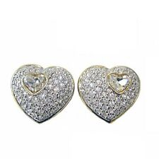 RUCINNI Two-Tone Plated Clip Earrings with Swarovski Crystals