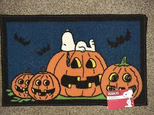 Snoopy Great Pumpkin Halloween Rug Peanuts Accent Rug Mat 18x30 Lightweight
