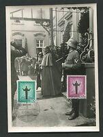 BERLIN MK 1958 179/180 KATHOLIKENTAG PAPST PIUS CARTE MAXIMUM CARD MC c9611