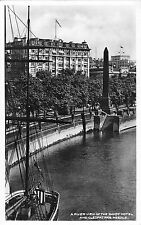 BR79105 the savoy hotel and cleopatra s needle real photo london uk
