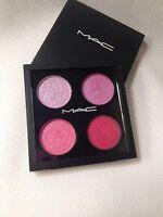 MAC Pressed Pigments QUAD Eyeshadow Kitschmas Pink Pearl Fuchsia Madly Personal
