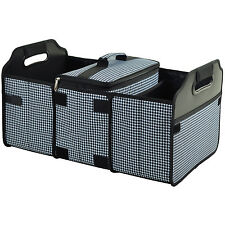 Picnic at Ascot Trunk Organizer and Cooler set -Houndstooth (8014-HT)