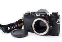 *Mint* Nikon FE Black 35mm SLR Film Camera Body w/ Strap from Japan