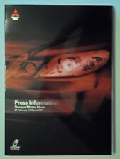 Paquete de prensa de Mitsubishi Gama Orig 2001 Kit de medios con Discos-ASX WRC París-Dakar
