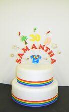 Vacanze Hawaiane/Tropicale Compleanno Cake Topper/Decorazione Personalizzata