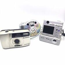 [FOR REPAIR] 3 FUJIFILM Compact Film Cameras  NEXIA Q1, FinePix, Smart Shot Plus