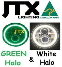 "7"" Headlights GREEN and WHITE Halo Datsun 140z 240z 260z 1600"
