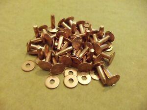 """Copper Rivets & Burrs 1/2"""" 12 Gauge SCA ( 1 Pound)"""