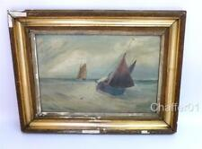 William Meredith, Oil on Canvas of Boats 1906 Manchester School of Art