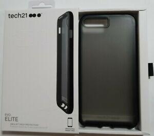 Tech21 iPhone 8 Plus/7 Plus Elite Shock Proof Case Cover - Polished Black