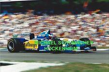 Michael Schumacher im Benetton F1 originales Riesen Poster Foto 30 cm x 40 cm