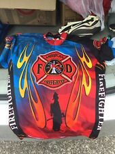 World Jerseys Mens American Firefighter Bicycle Jersey Size Medium Multicolor