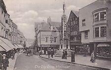WINCHESTER - THE CITY CROSS B&W POSTCARD (1911)