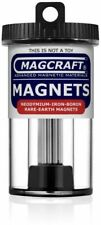 Magcraft Rare Earth 1/8 in. x 1 in. Rod Magnet (14-Pack)
