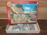 A New Thatch 1000 piece jigsaw puzzle by Schmid - Excellent condition Completed