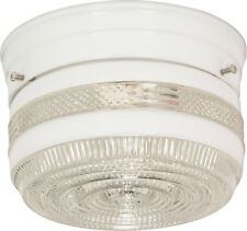 """Nuvo 1 Light 6"""" Flush Mount Small Crystal / White Drum"""