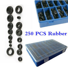 250Pc Rubber Grommet Assortment Firewall Hole Plug Set Electrical Wire Gasket