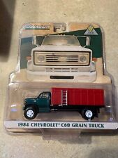 1/64 Green/Red 1984 Chevrolet C60 Grain Truck Farm Toy
