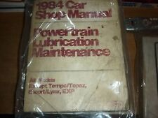1984 FORD MUSTANG THUNDERBIRD LINCOLN MARK7 SHOP MANUAL