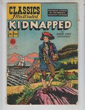 """Classics Illustrated 46 / HRN 47 GVG (3.0) 1st edition! """"Kidnapped!"""" 4/48"""