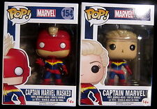 CAPTAIN MARVEL - Masked + Unmasked - 2 Vinyl Figuren - Limited - Funko Pop!