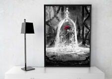 BLACK WHITE BEAUTY AND THE BEAST ROSE PRINT PICTURE POSTER MODERN ART KIDS ROOM