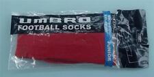 (soc524)  brand new Red Umbro football socks size 3 - 6.5 BNIP