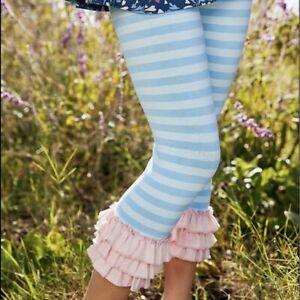 Matilda Jane Musing Away Leggings Girls Size 6 Pants Striped In Bag Blue Pink