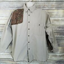 Vtg Woolrich Size 2XL Shooting Shirt Khaki Camo Heavy Weight Button Down Mens