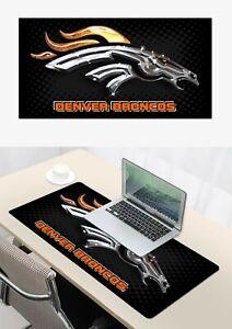 great Denver Broncos Mouse Pad Laptop Mat Large Size Mousepad