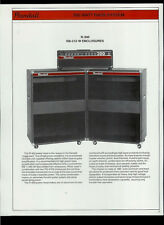 Randall R-300/300-PH Bass Amps RB-212-W R-612-S Enclosures Dealer Sheet Page