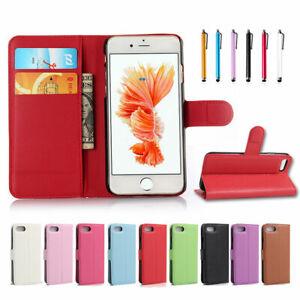 Biling Brillo Cuero Magnético De pie Billetera Estuche Cubierta Para APPLE IPHONE 6 6S Reino Unido