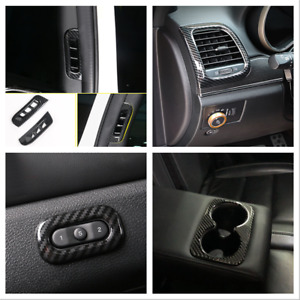 For Jeep Grand Cherokee 2011-2020 Interior Carbon Black Accessories Kit 6pcs