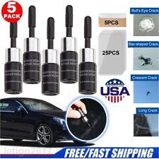 5PCS Automotive Glass Nano Repair Fluid Car Windshield Resin Crack Tools Kit US