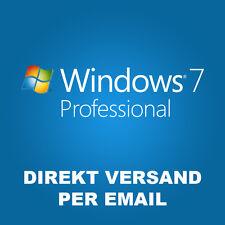 Windows 7 Professional Win 7 Pro 32/64 Bits Product Key direkt Versand OEM