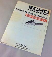 ECHO CS-900EVL CHAINSAW OPERATORS OWNERS MANUAL CHAIN SAW MAINTENANCE 2 CYCLE