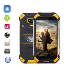 3G Discovery V19 Unlocked Android Smartphone Yellow Rugged Quad-Core Cell Phone