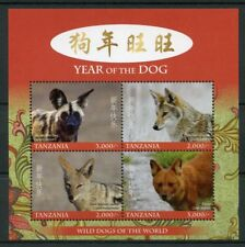 Tanzania 2017 MNH Year of Dog Wild Dogs 4v M/S I Chinese Lunar New Year Stamps