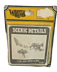 HO Vintage Woodland Scenics Details Plow Horse Man in Original Box