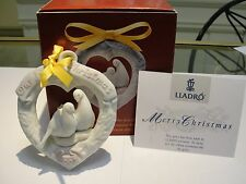 Retired Lladro 2003 Our First Christmas Ornament 01016731