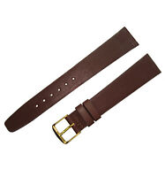 Hadley Roma MS976 17mm Brown Genuine Glove Leather Mens Watch Band