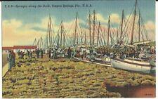 Sponges along the Dock Tarpon Springs Florida FL Postcard