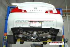 For 03-06 G35 2DR Coupe Rev9 Stainless Steel GT Dual Catback Exhaust System Set