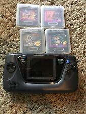 Sega Game Gear Handheld Console - Black Lion King Aladdin Predator 2 Donal Duck