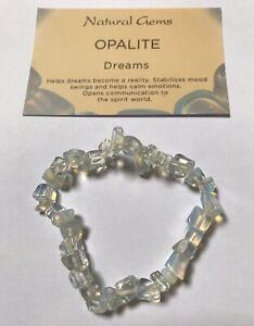 Opalite Gemstone Chip Bracelet with free organza bag